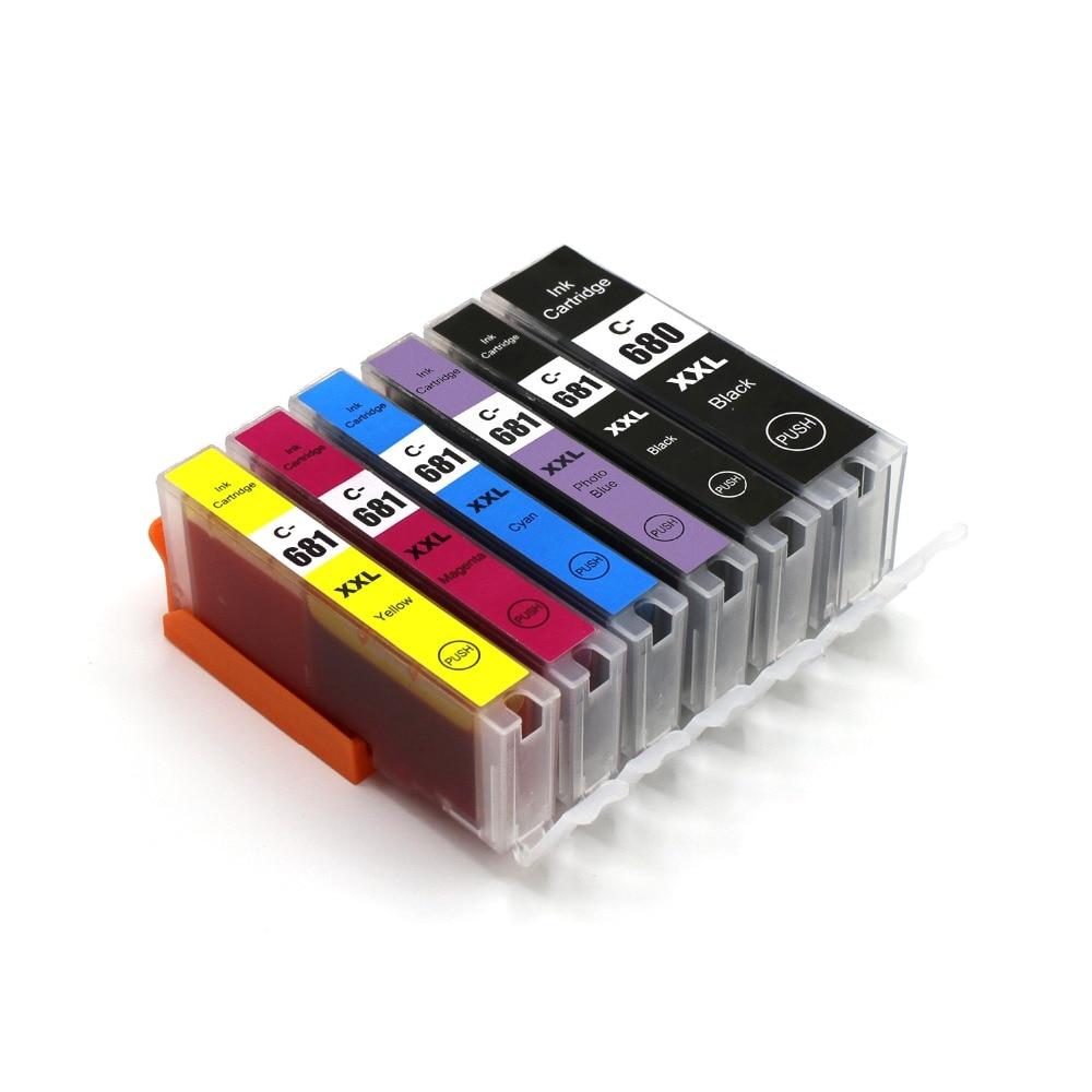 Compatible Canon PGI-680  CLI-681 Ink Cartridge For TR7560 TR8560 TS6160 TS8160 TS9160 TS8160 TS9160 Printer