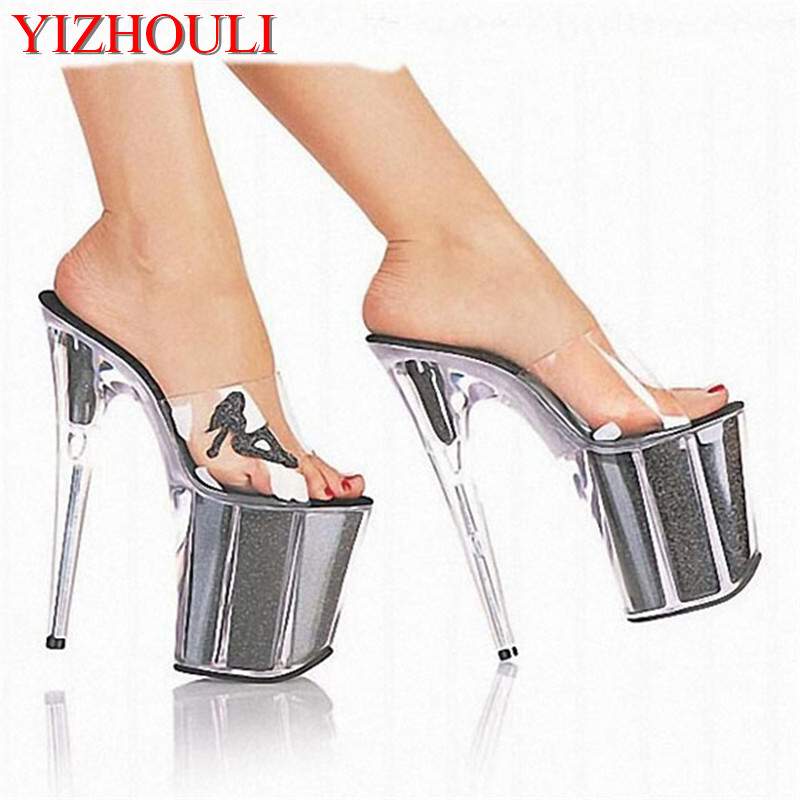 20cm Women's Ultra High Heels Shoes Queen Crystal Platform Shoes Fashion Sexy Sandals 8 Inch Beautiful Woman Lady High Heel Shoe 20cm unusual high heel shoes silver 8 inch high heel gladiator sandals crystal platform slippers made in china sexy rome shoes