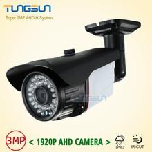New Super 3MP 1920P AHD Camera Security CCTV Metal Black Bullet font b Video b font