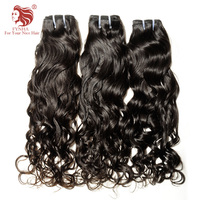 [FYNHA] Brazilian Virgin Hair Water Wave Weave Human Hair 3 Bundles Deal Natural Black Extensions 10 30inch wavy hair