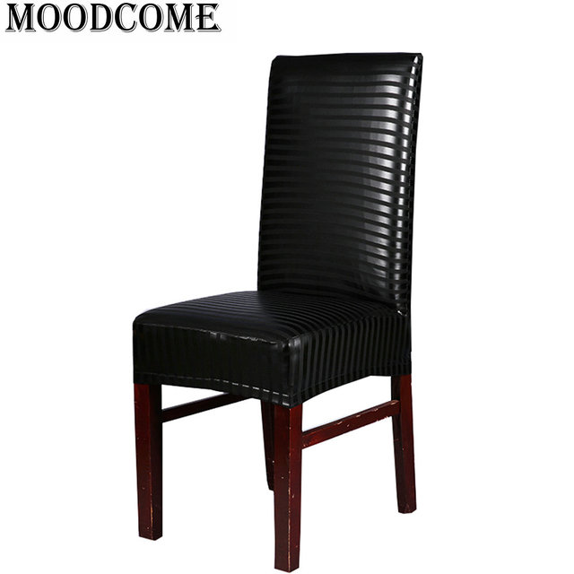 leather pu chair cover Elastic stoelhoezen eetkamer new fashion ...