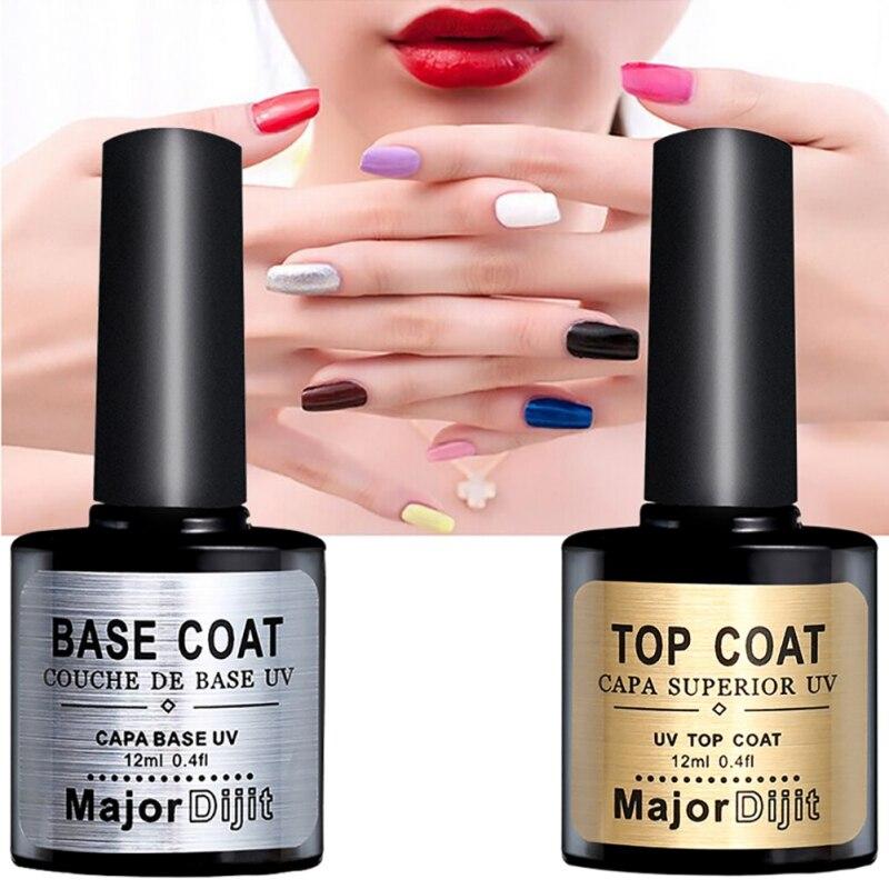 BELLE FILLE Base And Top Coat UV Gel Nail Polish 10ml Transparent Soak Off Primer Gel Polish Gel Varnish Lacquer Nail Art Useful