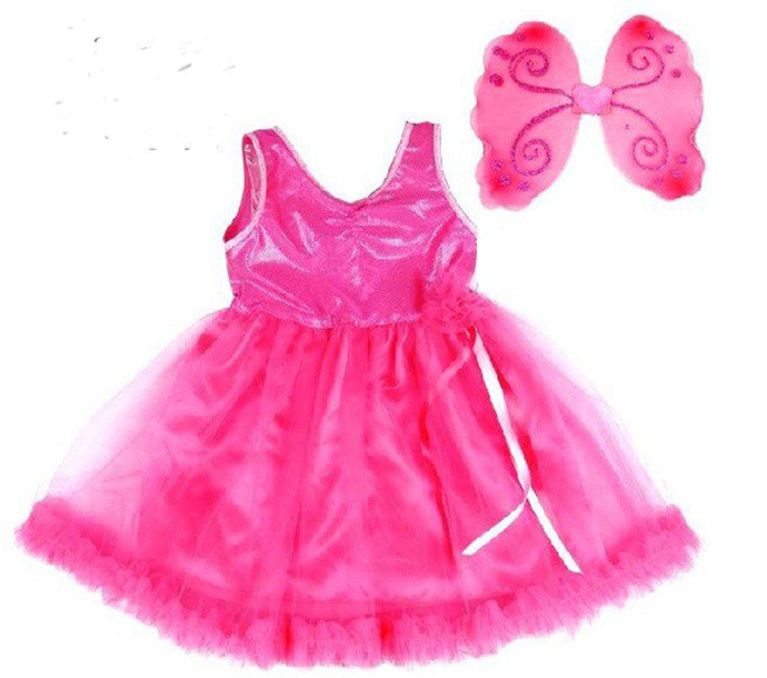girls lace dress+Wing children clothing baby girl clothes kids dresses toddler dresses rose 2015 robe bebe fille kinder kleding