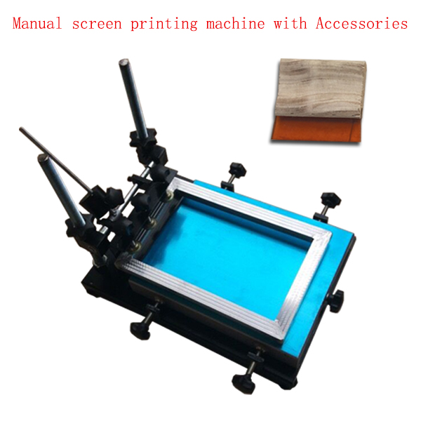 cheap mini manual flat bed silk screen printing machine
