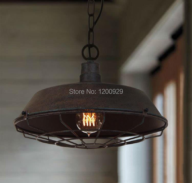 Free Shipping 1Piece Vintage Industrial American Style Iron Net Loft RH Pendant Light Living Room/Dining Room Decoration PLL-249