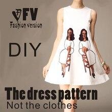 Платья Швейные шаблон резки одежды для рисования DIY(не продавая одежду) BLQ-111