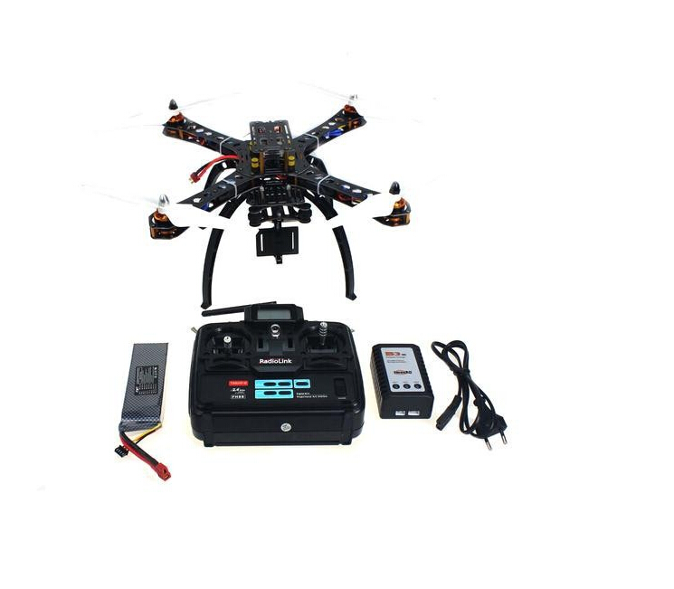 Assembled RC Helicopter with QQ Super Flight Control+T6EHP-E 6Ch Transmitter+11.1V 3300Mah 25C Battery F14893-A xinlin shiye x123 3 5 ch r c infrared control helicopter black yellow