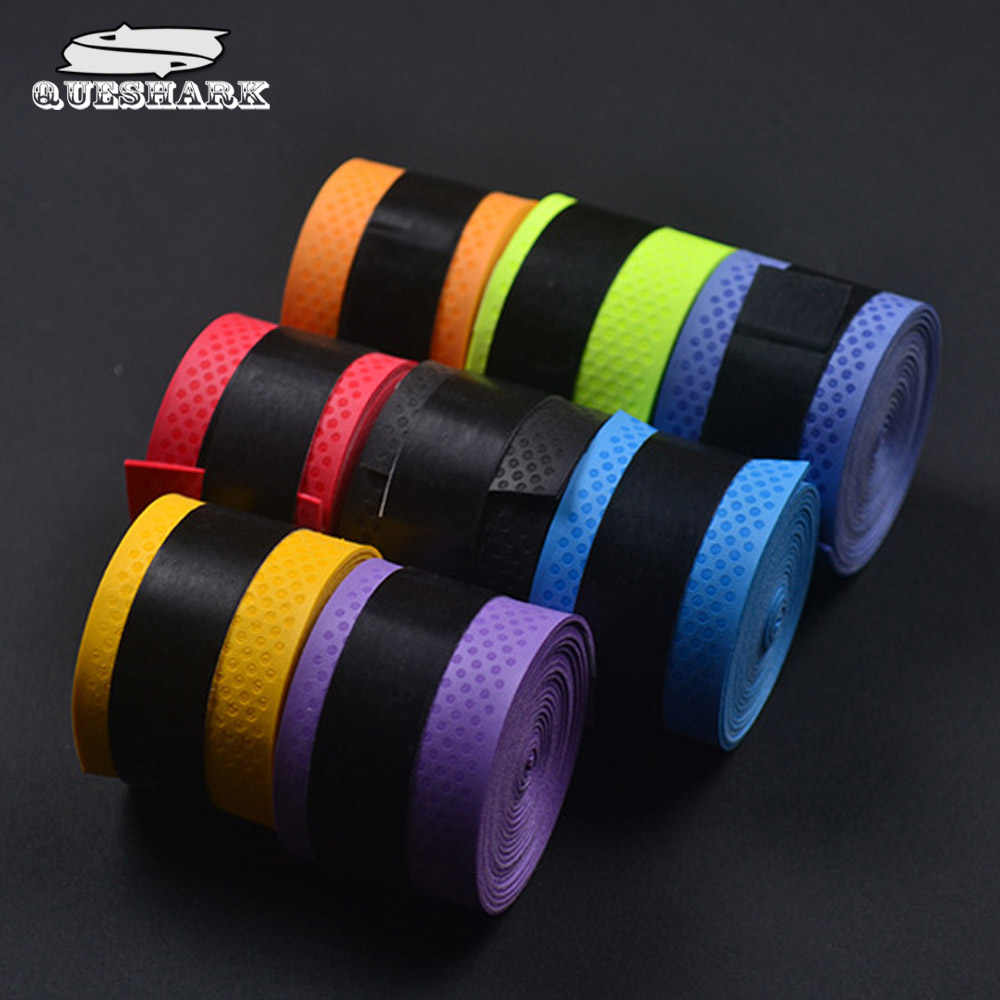 10pcs/lot Anti-slip Sport Fishing Rods Over Grip Sweat band Griffband Tennis Overgrips Tape Badminton Racket Grips Sweatband