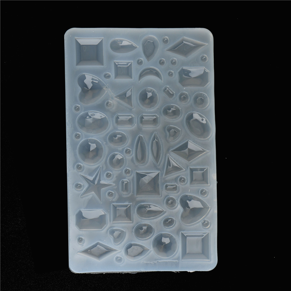 Oval/Heart/Water Droplets Cabochon Semicircle Silicone Chocolate Mold Mould For Epoxy Resin Jewelry Making DIY