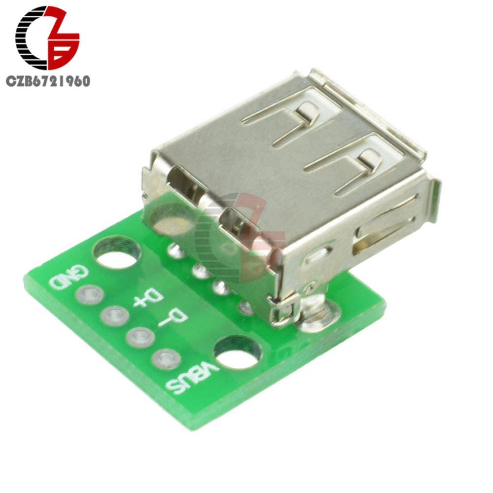 5PCS Type A Female USB To DIP 2.54MM PCB Board Adapter Converter for Arduino5PCS Type A Female USB To DIP 2.54MM PCB Board Adapter Converter for Arduino