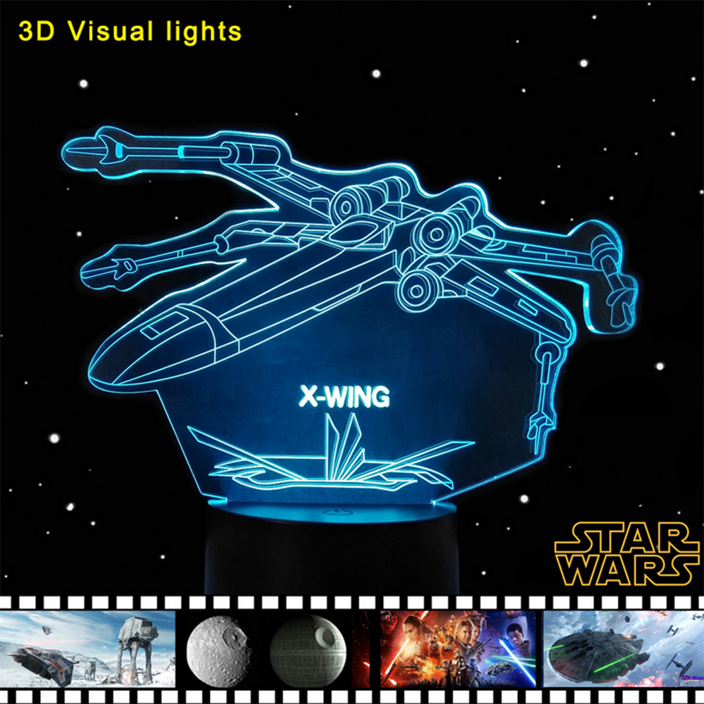 Star Wars X-Wing Fighter Toys Led Light Atmosphere Lamp Festival Lantern Christmas Decoration Supply Glow Accessory Party Favors