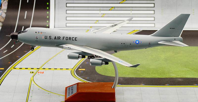 Fine rare IF 1/200 The US Air Force YAL-1A airborne laser anti-missile machine Boeing 747-400F Alloy aircraft model Collection airborne pollen allergy