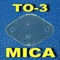 ( 50 pçs/lote ) TO-3 Transistor Mica isolante, Folha de isolamento