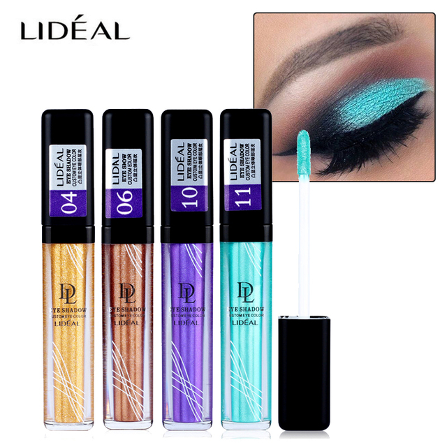 Long Lasting Waterproof Metallic Eyeshadow Liquid Shimmer Stickers