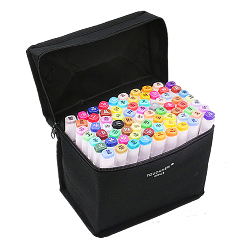 40 Colors Artist Dual Head Sketch Markers For Manga Marker School Drawing Marker Pen Design Supplies 5Type touchnew 30 40 60 80 colors artist dual head sketch markers set for manga marker school drawing marker pen design supplies