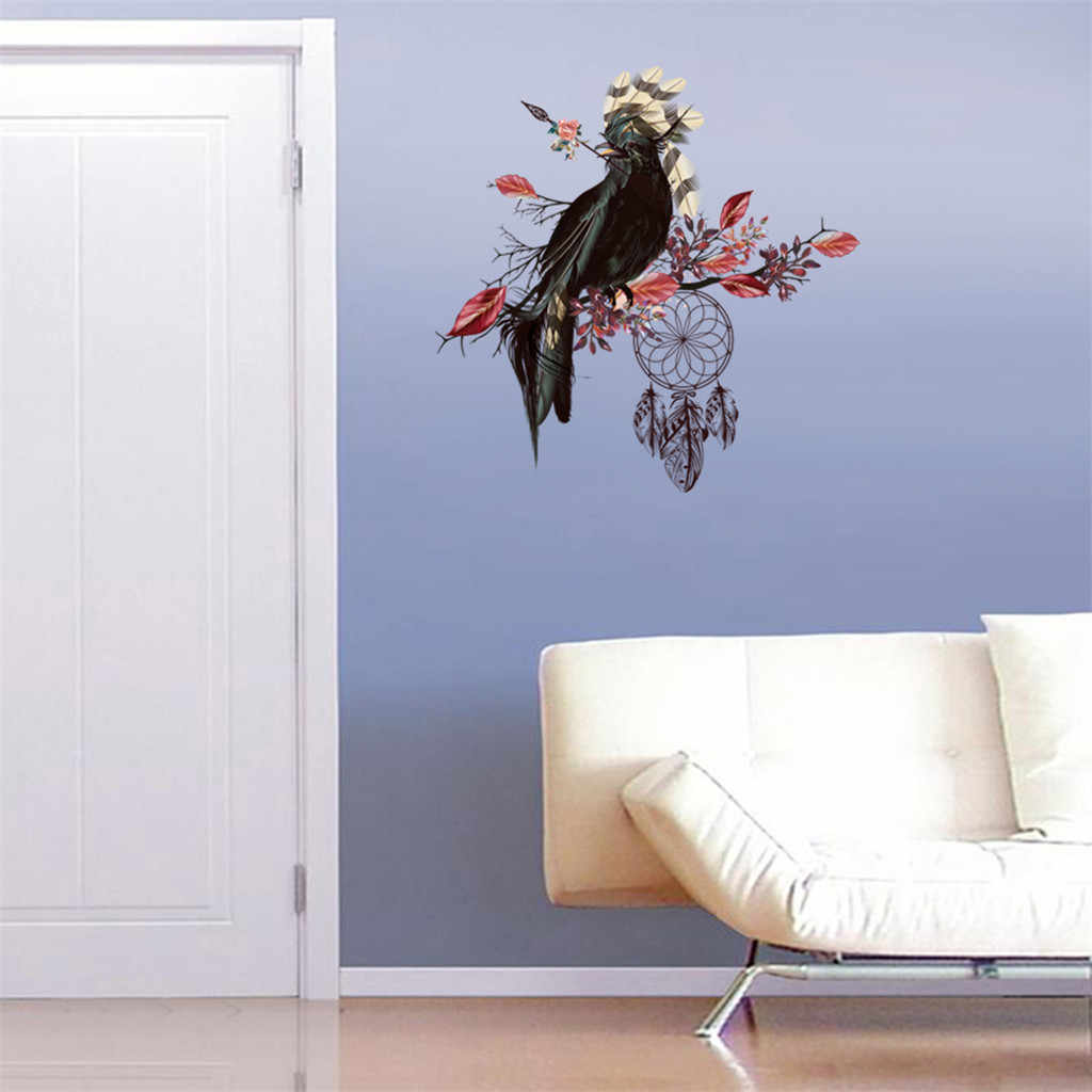 Creative twig bird wall sticker Mobile Wall Affixed With Decorative Wall Sticker For Living Room Bedroom Window Home Decor