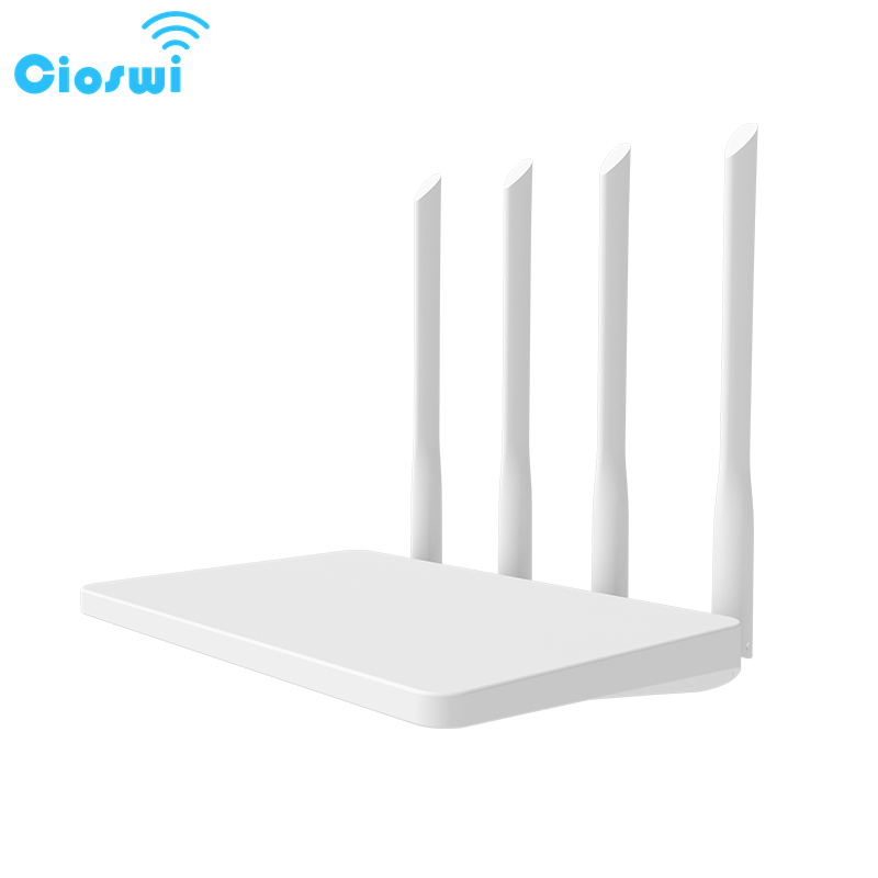 Cioswi Openwrt 2.4G 300Mbps Wireless Wifi Router High Gain 4 Antenna Large DDR2 RAM Flash Wide Coverage Stable Wifi Signal title=