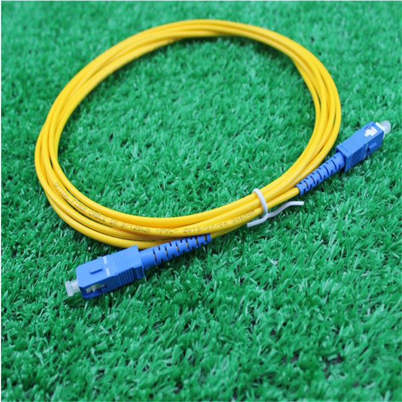 10pcs lot SC SC single core fiber jumper fiber optic cable 3 meters SC pigtail Optical