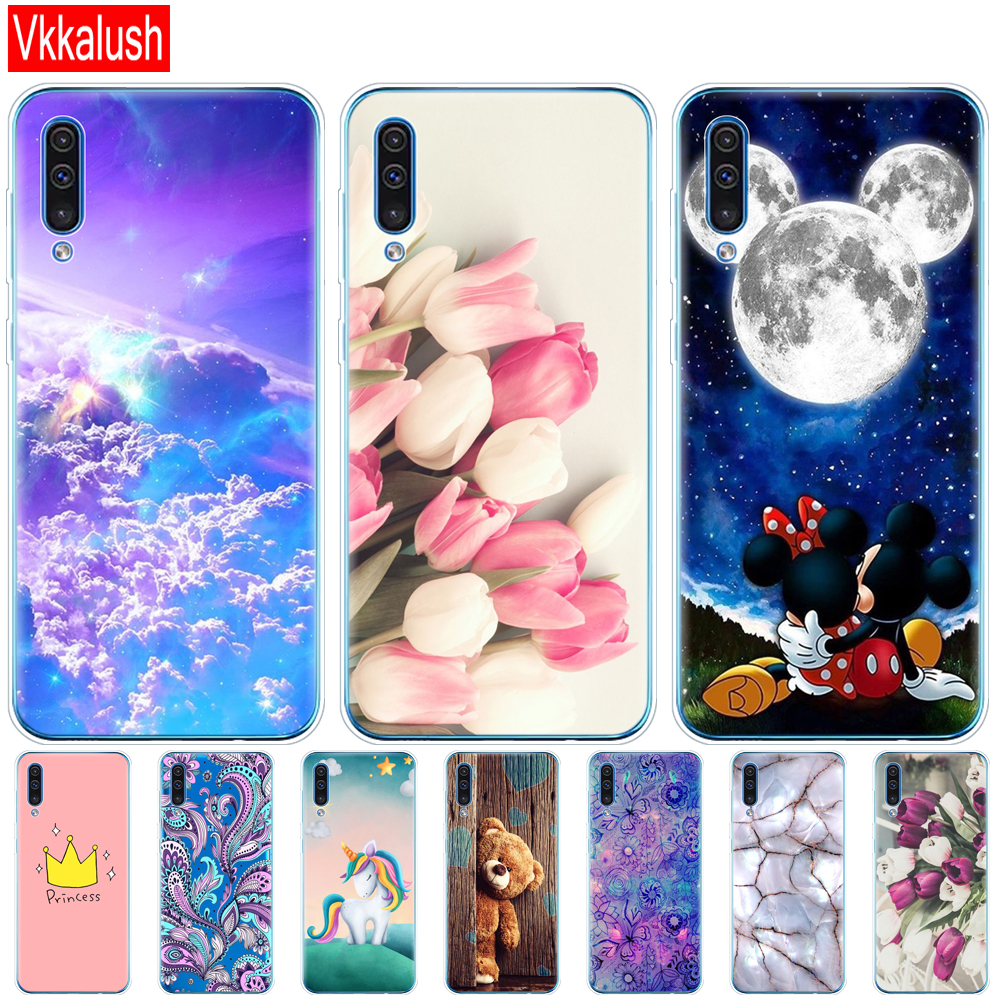 For Samsung Galaxy A50 Case Silicon Transparent Back Cover Phone Case For Samsung A50 A505 A505F SM-A505F Soft Case 6.4
