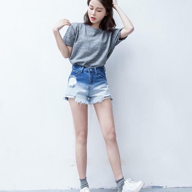 Aliexpress.com : Buy Summer Fashion Loose Ripped Holes Women Denim ...