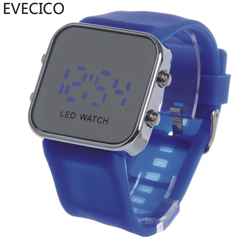 The trend of electronic watch led waterproof watch lovers table jelly table mirror table