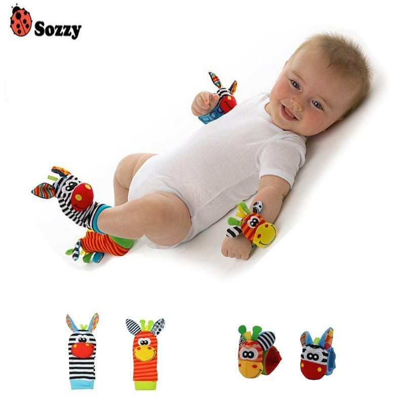 Sozzy Wholesale Baby Socks Toys Wrist Ring Strap Newborn Toddler Boy Girl Birth Gift Infant 0~12 Months Kids Soft Plush Toy