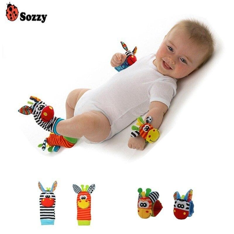 Sozzy gros bébé chaussettes jouets poignet anneau sangle nouveau-né enfant en bas âge garçon fille cadeau de naissance infantile 0 ~ 12 mois enfants doux en peluche jouet