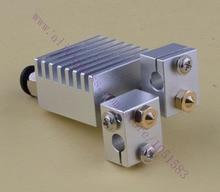 Quimera Hotend-Clone Multi-V6 Doble Cabezal de extrusión Extrusora HotEnd, 0.3/0.4/0.5mm Boquillas, 1.75mm/3.0mm,