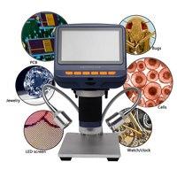 Digital Microscope USB Electronic Microscope Video HD 1080P 5 Inch Microscope with Remote Industrial Camera Magnifier 8 LED