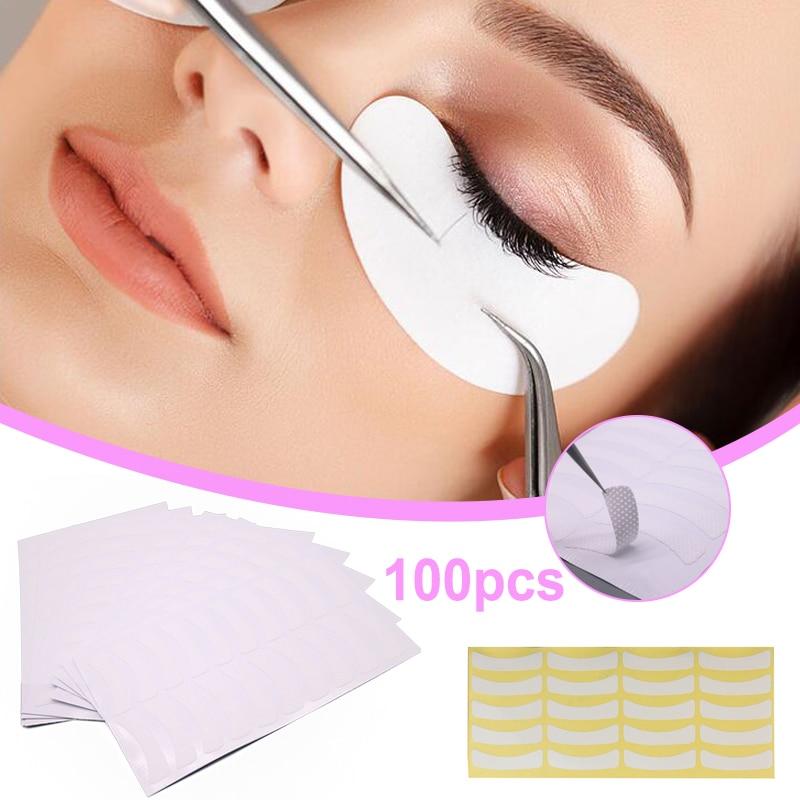 100 Pcs Eye lash Perm MakeUp Paper False Eyelash Extension Pads Stickers Adhesive Tape Dropshipping