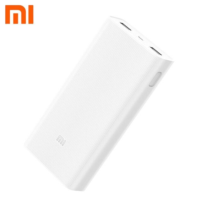 Xiaomi Mi Power Bank 20000 мАч быстрое зарядное Устройство внешний аккумулятор портативное зарядное устройство power bank Двойной выход USB Для смартфона и планшета