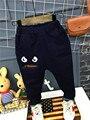 Дети мальчики джинсы 2017 персонажа из мультфильма печатных случайные штаны Весной и Осенью Мультфильм монстры джинсы для детей
