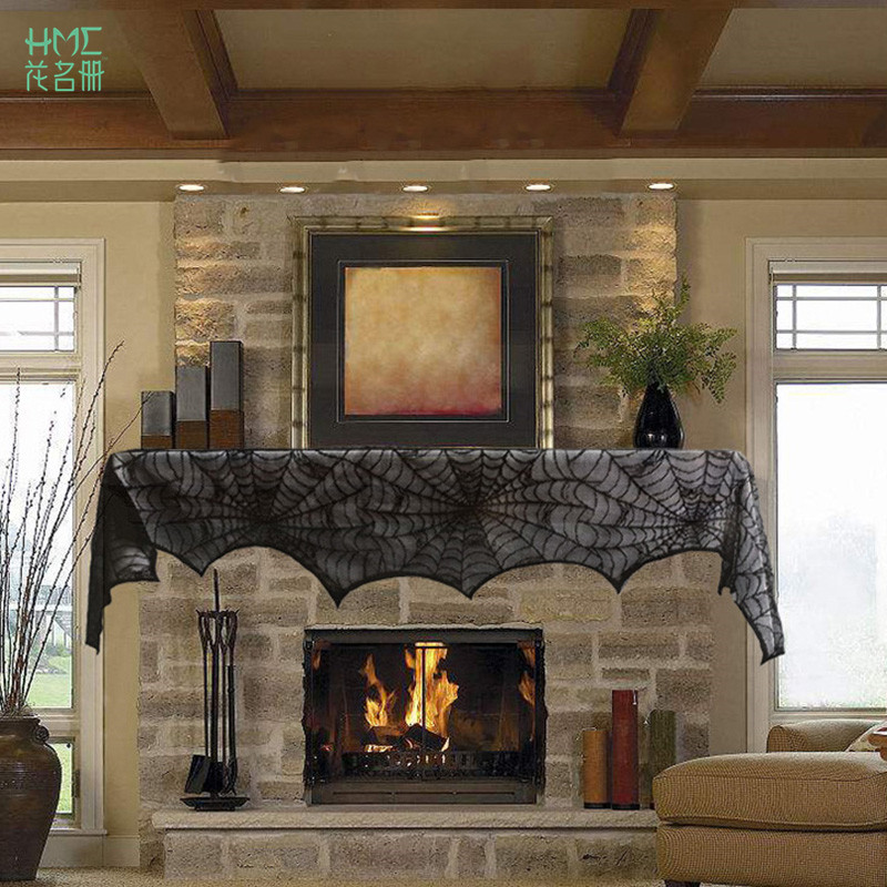 Fireplace Halloween Decorations: 258x46cm Halloween Party Supplies Fireplace Mantle Scarf