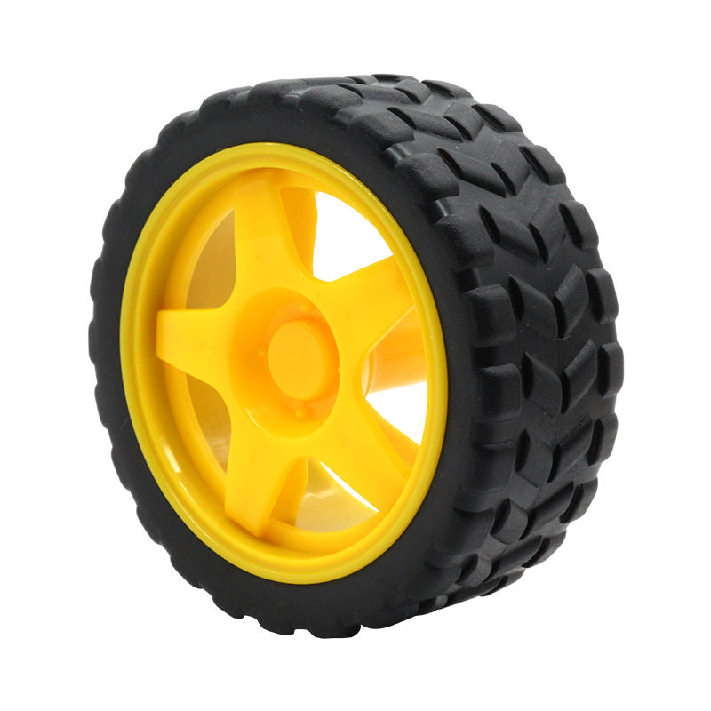 Glyduino 66MM 1:48 Small Smart Car Model Plastic Robot Tire Wheel FZ0394 Dropshipping