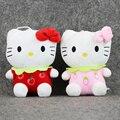 4 Стили Мультфильм Сидя 16 см Высота Hello Kitty Милые Плюшевые Игрушки Hello Kitty в Фрукты Платье Игрушки Мягкая Подвеска для дети