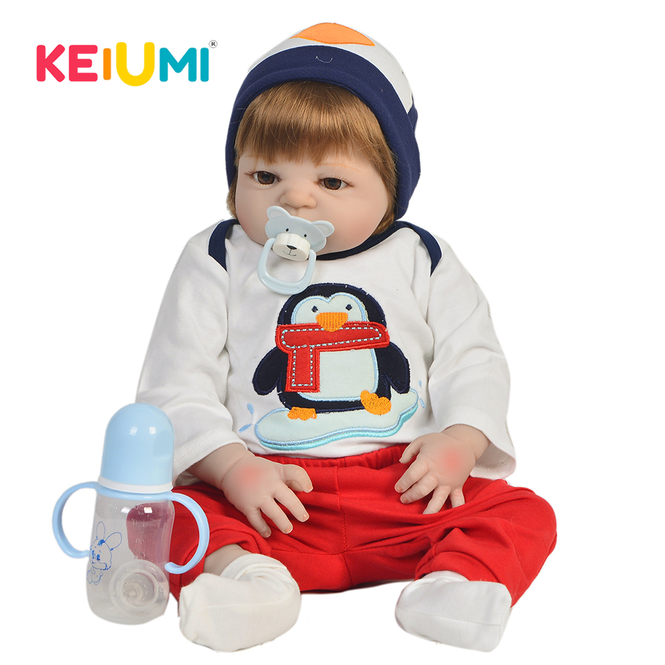 New Arrival 23'' 57cm Reborn Baby Boy Full Silicone Body Lifelike Dolls Reborn Boneca Handmade Baby Toy For Kids Christmas Gifts new arrival 23 57cm baby girl doll full silicone body lifelike bebe reborn bonecas handmade baby toy for kids christmas gifts