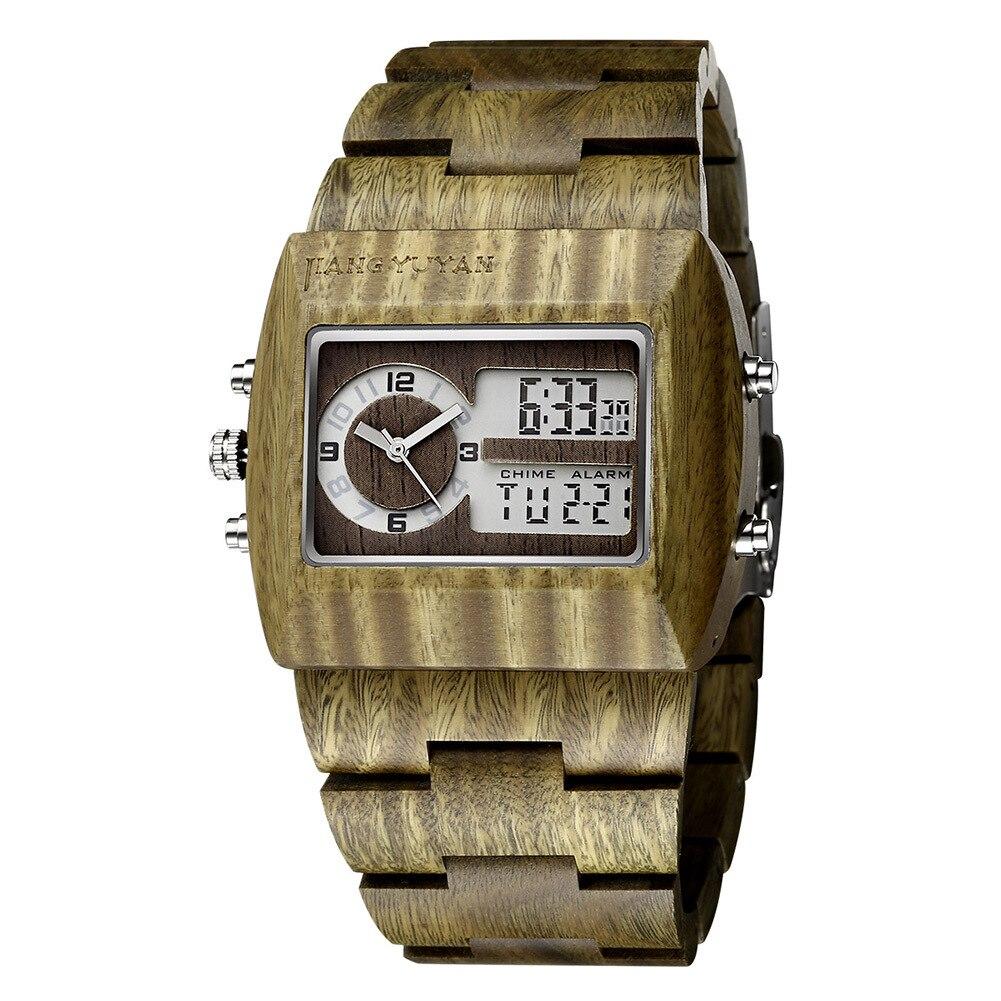 Top quality fashion sandalwood double core watches quartz wristwatches mens best gift