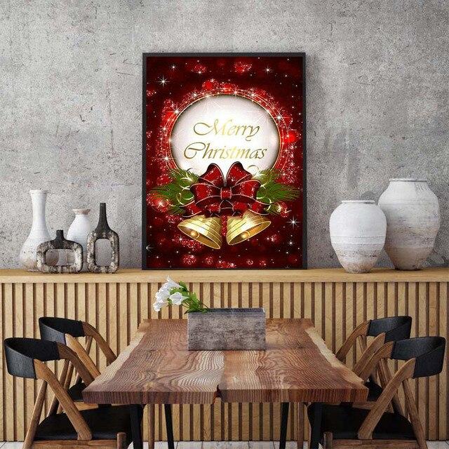 Huacan Official Store Diamond Painting Cartoon Diamond Embroidery Full Set Diamond Mosaic Rhinestone Christmas Decorations
