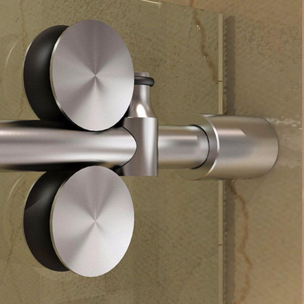 6.6FT Frameless Sliding Glass Shower Door Track Barn