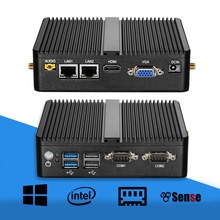Mini PC Celeron J1900 Quad Core Windows 10 Dual LAN 2*COM Fanless Mini Computer Celeron J1800 N2810 NetTop 300M WIFI HDMI VGA mini pc fanless desktop micro computer dual hdmi usb3 0 intel celeron j1900 n2810 baytrail dual core 2 0ghz cpu palm sized wifi