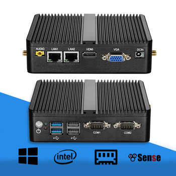 Mini PC Celeron J1900 Quad Core Windows 10 Dual LAN 2*COM Fanless Mini Computer Celeron J1800 N2810 NetTop 300M WIFI HDMI VGA