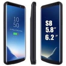 Для Samsung Galaxy S8 S8 плюс Чехол с аккумулятором аккумуляторная Power Bank Резервное копирование внешний аккумулятор, зарядное устройство, чехол