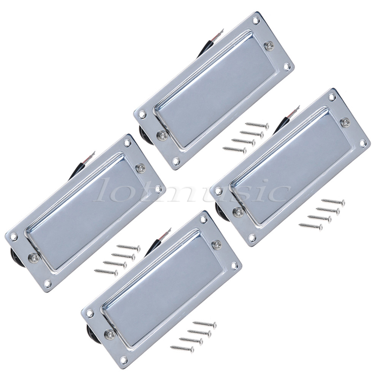 4Pcs Chrome Belcat Ferrite Pickup Humbucker Pickup Double Coil Pickup For Electric Guitar Replacement belcat electric guitar pickups humbucker alnico 5 humbucking bridge neck chrome double coil pickup guitar parts accessories