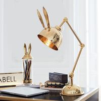 Scandinavian modern rabbit living room desk lamp study bedroom bedside children room lamp