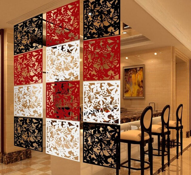 Room Divider Partition aliexpress : buy 4pcs butterfly flower hanging screen curtain