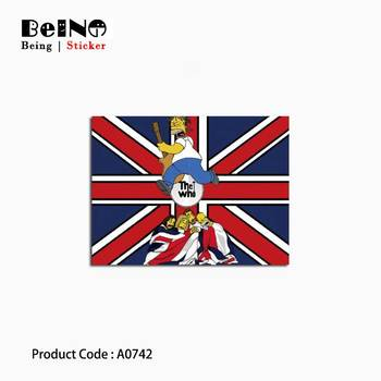 Rice Flag Simpson Cool Sticker Running Anime Waterproof Suitcase Laptop Guitar Luggage Skateboard Toy Lovely A0742 Stickers QY31