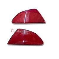 Plastic Rear Tail Fog Light Lamp Reflector Panel Set For Mazda 2 Demio 2015 2016 Car