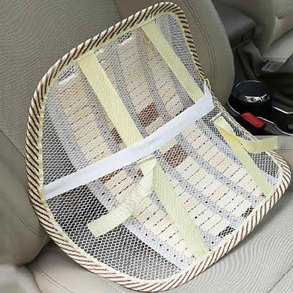 كرسي ظهر السيارة العالمي ، وسادة دعم قطني لتدليك الخصر ، وسادة شبكية للتهوية ، وسائد باردة من الخيزران