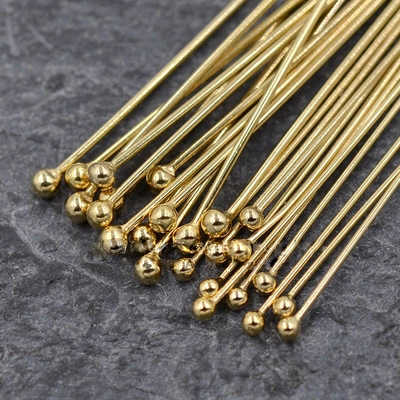 PINJEAS handmade 14 พันทองคุณภาพสูงลูกปัดขนาด 0.5/0.64 มิลลิเมตรสำหรับ DIY ผลการค้นหาเครื่องประดับ