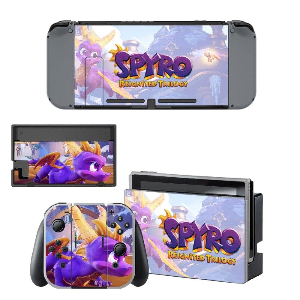 Купить с кэшбэком Vinyl Skins Sticker For Nintendo Switch NS N-Switch Console and Controller Skin Sticker Set - For Spyro The Dragon